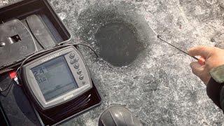 [Школа рыболова] - Ловля плотвы по последнему льду с использованием летнего эхолота.