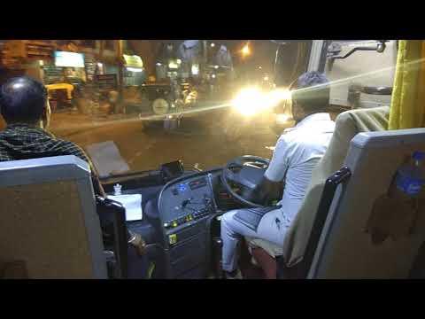 Vrl volvo B9R at Bijapur towards bangalore with driver cabin