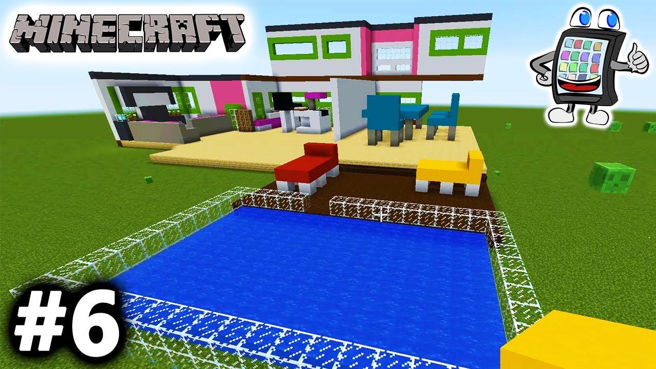 MINECRAFT Playmobil Luxusvilla Bauen Deutsch SWIMMINGPOOL UND - Minecraft hauser mit pool