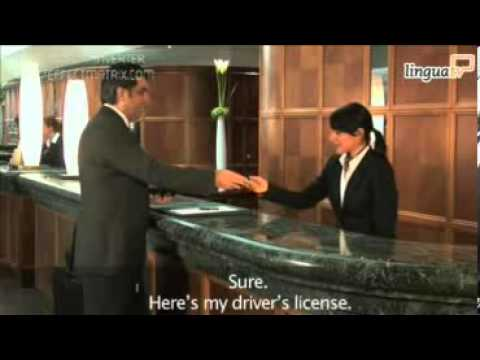 English for Hotel and Tourism  Checking into a hotel by LinguaTV