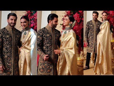 Ranveer Singh - Deepika Padukone Look Royal At Their Bangalore Wedding Reception At Leela Palace