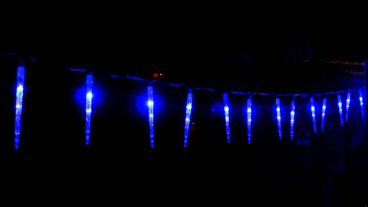 vickysuncom led blue icicle tube christmas lights snowing function youtube