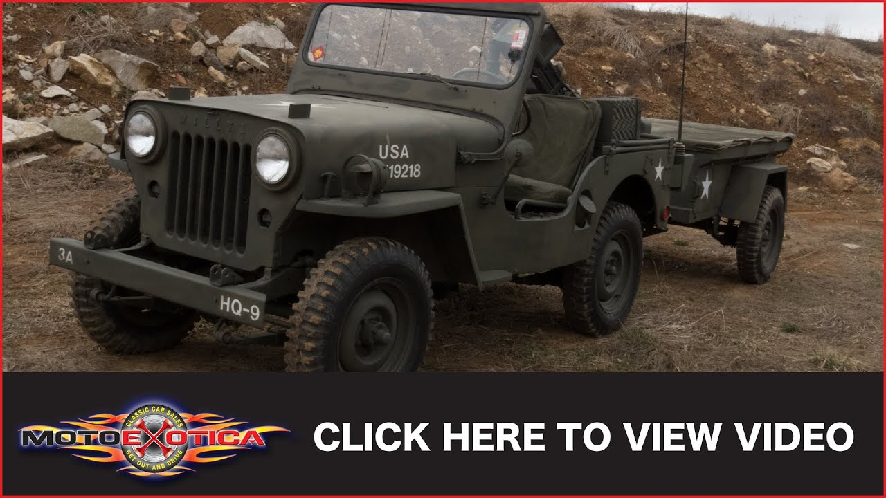 1953 willys jeep w trailer sold