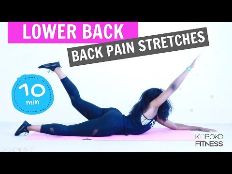 LOWER BACK STRETCHES FOR LOW BACK PAIN | Home Workout - Exercises for Women