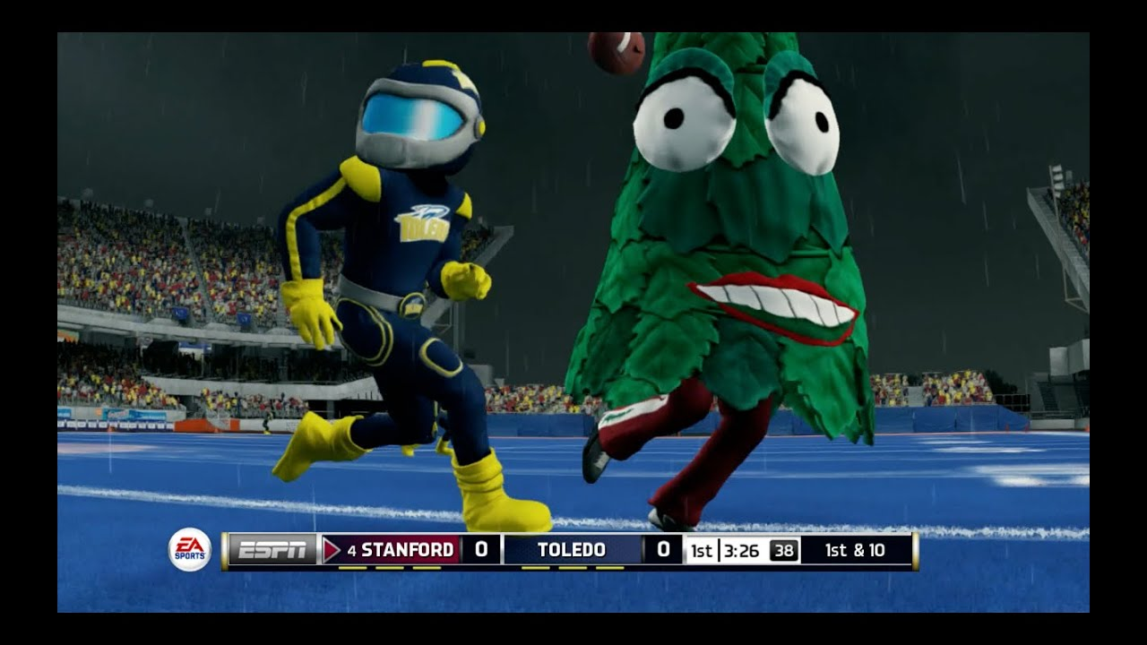 Christmas Trees vs MegaMans!? NCAA Football 14 Mascot Mode - YouTube