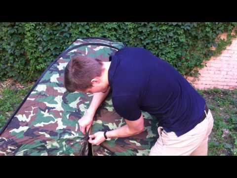 Как собрать туристическую палатку с дугами видео