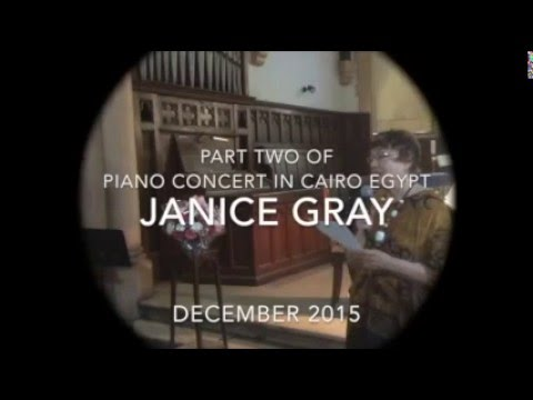 Janice Gray Cairo Concert, 2015,  Part Two
