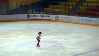 Фигурное катание Милена Жукова  11 лет. ПП 1 спорт. разряд