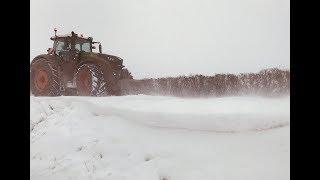 Fendt 1050, snow, and a Puma 165cvx (VLOG)