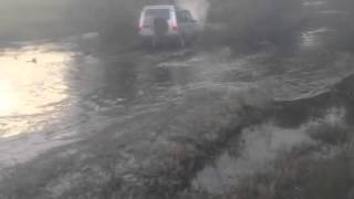 Funny 4x4 v8 water crossing without snorkel gone wrong