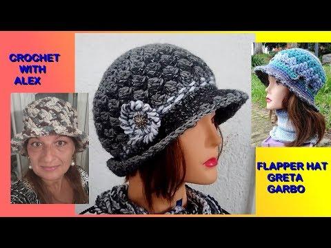 371ceaf0d2d823 CROCHET FLAPPER HAT