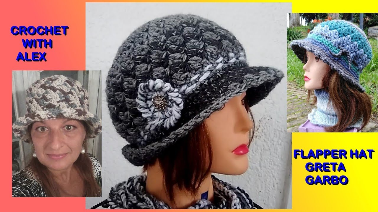 Crochet Flapper Hat Greta Garbo Easy Tutorial Snail Stitch Alex