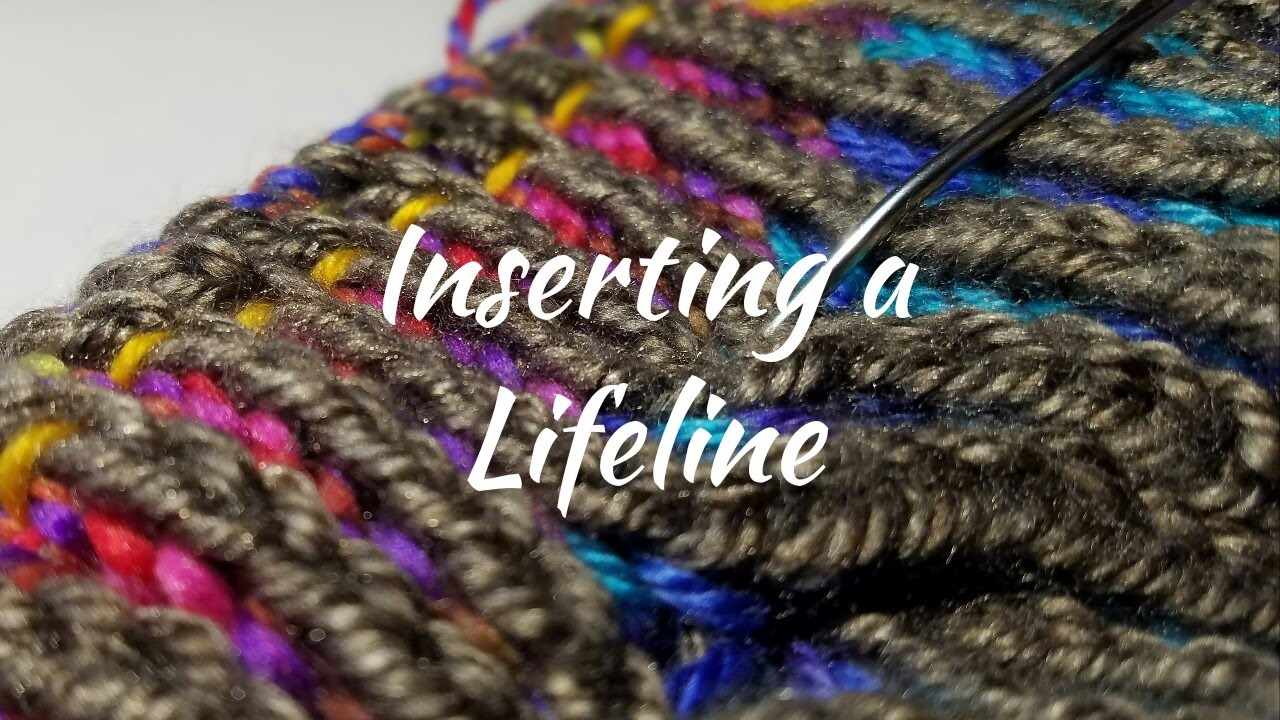 how to put in a lifeline knitting