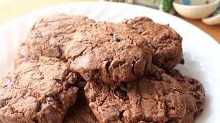 How to Make Double Chocolate Cranberry Cookies  Simply Bakings