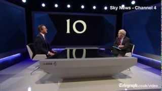Election TV debate live: Ed Miliband & David Cameron interview highlights