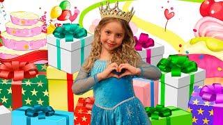 День Рождение Каролины | Распаковка Игрушек | Детские игры на день рождения