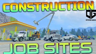 Farming Simulator 2015 - Moving & Setting Up the Construction Site!!