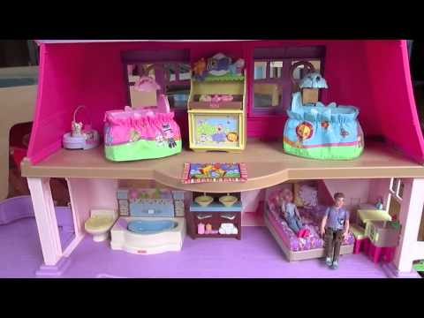 Fisher Price Loving Family Dollhouse Review Youtube