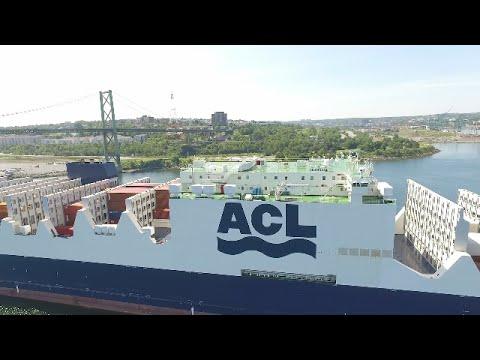 DJI Phantom 3 Aerial Video - New ACL Vessel ATLANTIC SAIL Inbound into Halifax, NS (July 13, 2016)