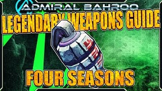 "Borderlands The Pre-Sequel: The ""Four Seasons"" - Legendary Weapons Guide"