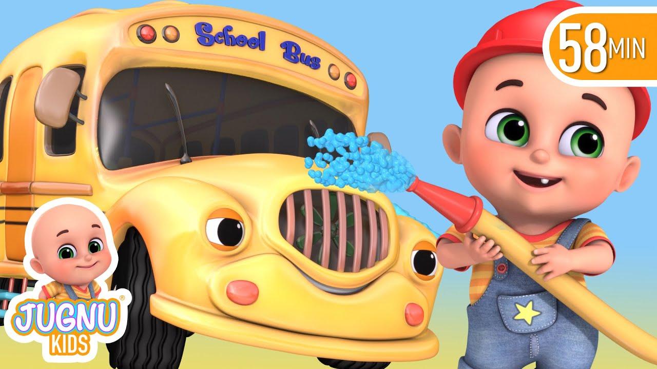 Download The Wheels On The Bus   Jugnu kids Nursery Rhymes and Baby Songs for Kindergarten