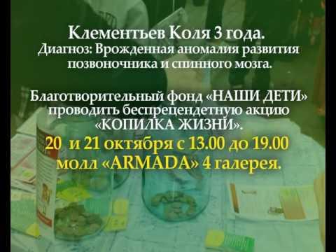 Копилка ЖИЗНИ 20 и 21 октября 2012 г  Поможем Коле