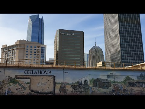 Oklahoma City Walking Tour 2019 Myriad Gardens, National Memorial, Chesapeake Arena, The Garage Bars
