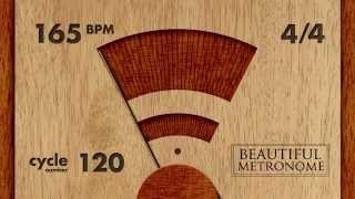 165 BPM 4/4 Wood Metronome HD