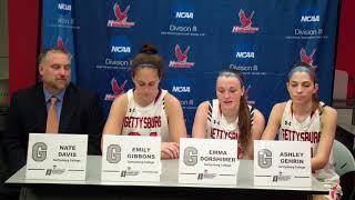 2018 NCAA D3 WBB Post-Game - Gettysburg College