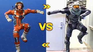 NEW BAILES OF FORTNITE VS REAL LIFE!! FORNITE DANCES in REAL LIFE