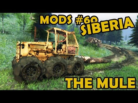 Lumber skid with the Mule at level Siberia - Mod Review #60 (Spin Tires)
