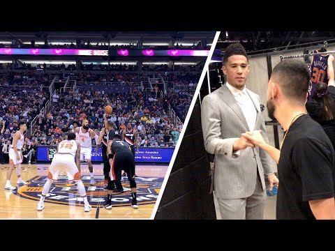 FLOOR SEATS TO SUNS GAME! *BACKSTAGE W/ PLAYERS*