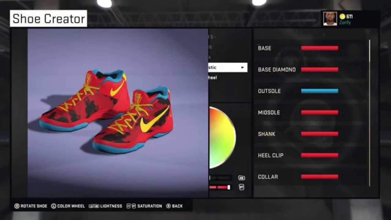 timeless design dcd3a 9a79b NBA 2K15 Shoe Creator - Nike Kobe 8