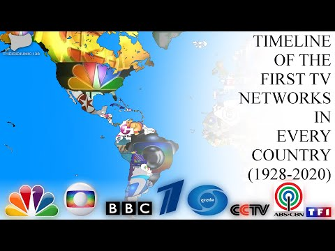 Timeline of the First TV Networks in Every Country by Logo (1928-2020)