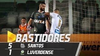 santos 5 x 1 luverdense bastidores copa do brasil 100518