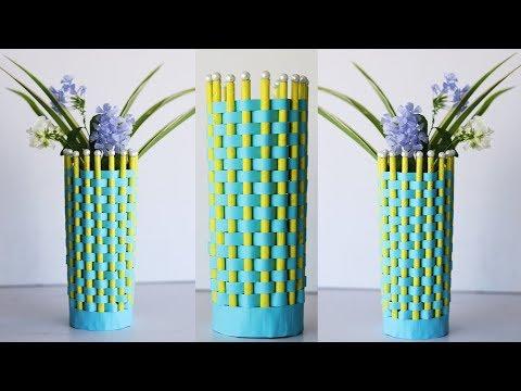 Easy paper flower vase - DIY paper crafts decoration ideas