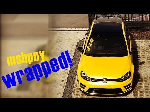 Golf 7 R / 2017 PREVIEW / Mshpny R Snack / Wrapped / Wrapping / Folierung