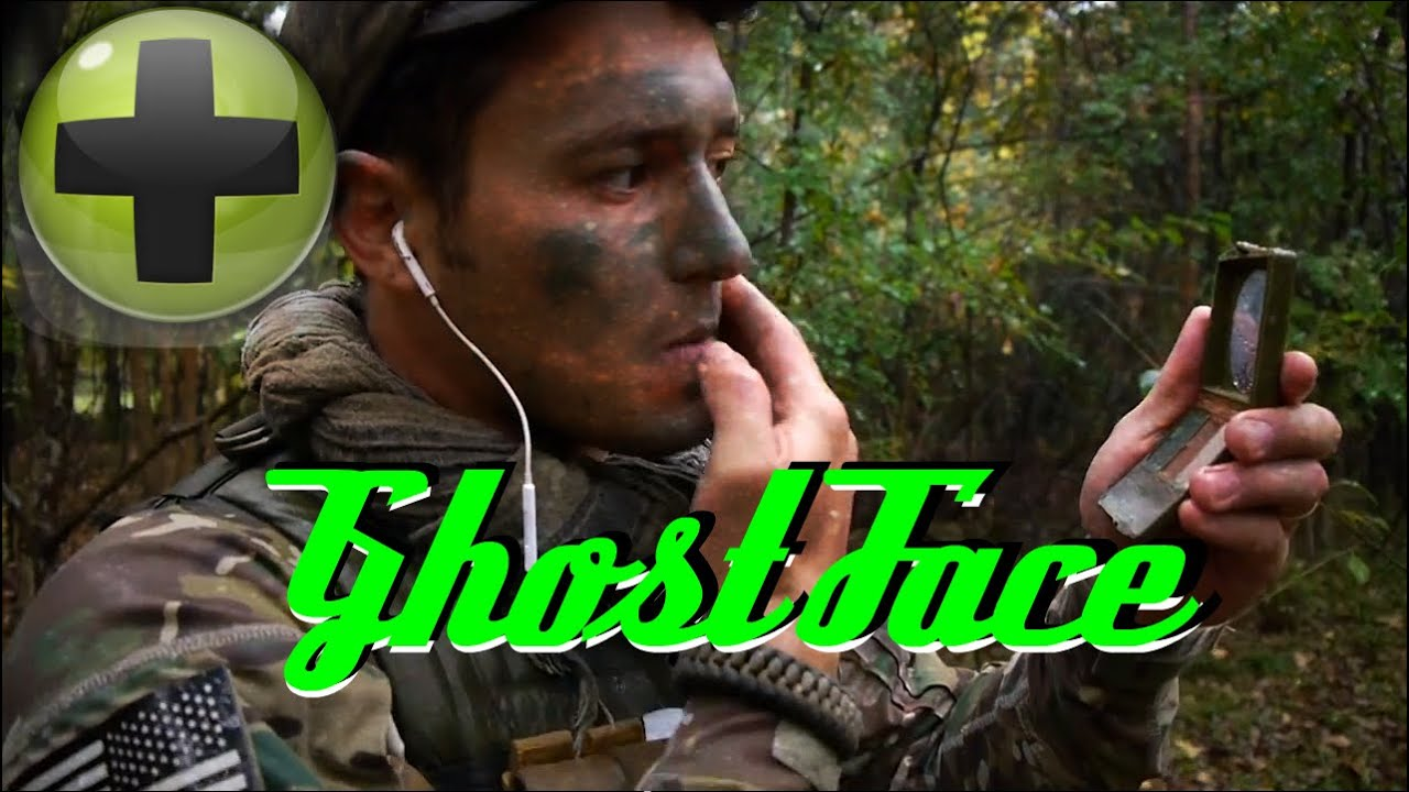 How to apply camo face paint ghost face doovi for How to apply face paint