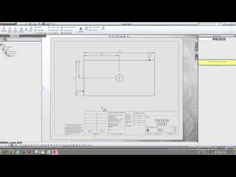 Datum and geometric tolerance in Solidworks drawings