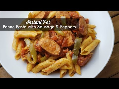 Instant Pot Penne Pasta With Sausage And Peppers ~ Pressure Cooker Recipe ~ Amy Learns To Cook