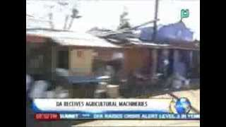 NewsLife: DA receives agricultural machineries || Dec. 9, 2013