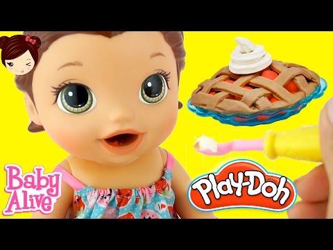 Baby Alive Muñeca come Pastel de PLAY DOH y Hace Popo En su Pañal
