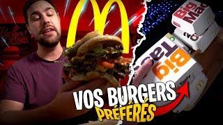 Je mange tous vos burgers préférés de chez McDonald's !!