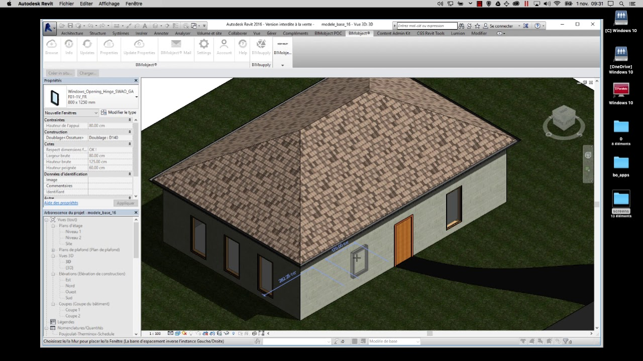 SWAO INTRODUCTION TO REVIT (FR)