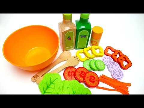 Thumbnail: Hape Garden Salad Wood Play Kitchen Play Set