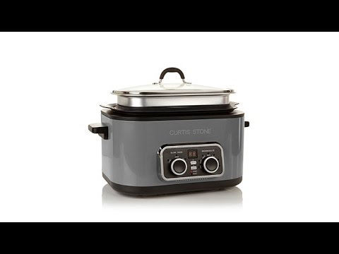 Curtis Stone 6qt 5in1 Multicooker with 3qt Extender Ring