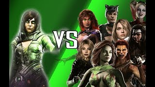 INJUSTICE 2 - Enchantress Vs The Girls - All Intro Dialogues