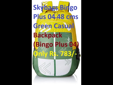 Skybags Bingo Plus 04 48 cms Green Casual Backpack Under Rs. 799/- (32 L) Unboxing & Review