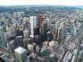 HD Amazing Views of  Toronto From Top CN Tower SkyPod & Indoor Lookout Level La Tour CN