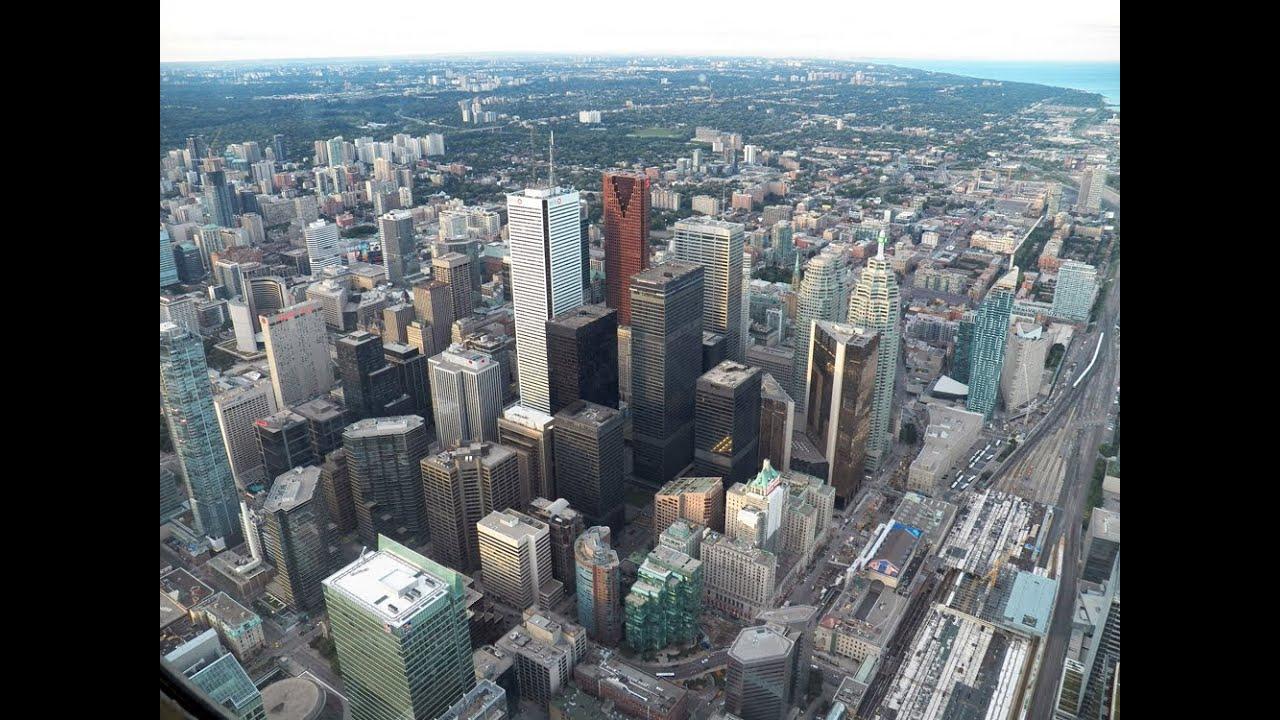 Hd Amazing Views Of Toronto From Top Cn Tower Skypod Indoor